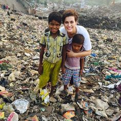 Rose of Tralee Maria visits orphans and street kids in Kolkata with the HOPE Foundation www.