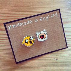 Adventure Time earring studs on Etsy, £5.00