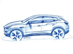#Maserati Kubang concept sketch. The 2011 concept previewed the production Levante