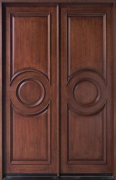 In stock French Mahogany Solid Wood Front Entry Door - Double - DB-875N DD