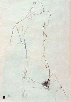 """bordeaux1901: """" Egon Schiele 1911 """""""
