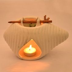 ExclusiveLane Ceramic Oil Burner White - Decoratives by ExclusiveLane for Beeja