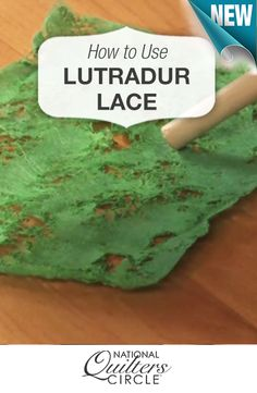 Add texture to your quilt by using lutradur lace and learn how to properly use it! Watch the how to video at http://www.nationalquilterscircle.com/video/lutradur-lace/ #NQC #learnmorequiltmore