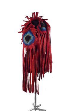 Écharpe feutrée châle long feutre Nuno Nuno boho tissu par filcant