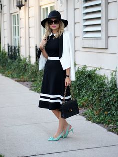 Suburban Faux-Pas via Business Formal Women, Business Casual Attire, Professional Attire, Trendy Outfits, Cute Outfits, Interview Attire, Smart Outfit, Collar Dress, Business Fashion