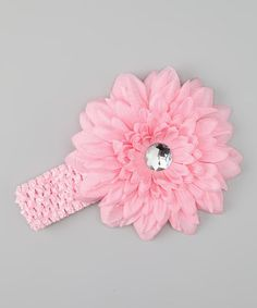 Take a look at this Light Pink Flower Headband by Sweet Treat Bows on #zulily today!