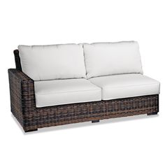 Thos. Baker Hampton Java Wicker Cushion Outdoor Loveseat Sectional