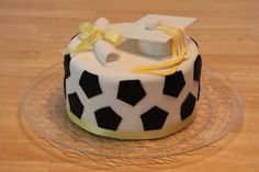 soccer graduation cake
