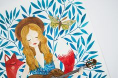 Иллюстратор Oana Befort - Simple + Beyond Drawing Sketches, Drawings, Creative Art, Illustration, Rooster, Projects To Try, Artsy, Vibrant, Watercolor