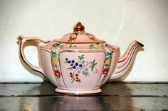 Sadler England Pink Teapot
