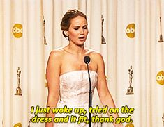 """She did it again when she was asked the """"process"""" she went through to get ready for the Oscars, because obviously.   22 Times Jennifer Lawrence Was The Badass Woman You Aspire To Be"""