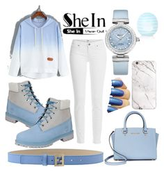 """SheIn contest. 😇💙"" by neilaninewsome ❤ liked on Polyvore featuring Paige Denim, Timberland, Fendi, OMEGA, Topshop and Michael Kors"