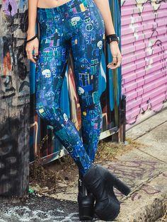 Klimt Death Leggings (WW 24HR $75AUD / US - LIMITED $60USD) by Black Milk Clothing