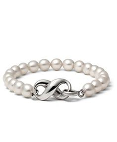 Tiffany  Co Cultured Freshwater Pearl Bracelet.  I would love this with dark pearls rather than white