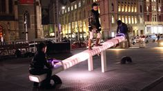 Quick! Go see the light-up LED seesaw in Melbourne's Federation Square