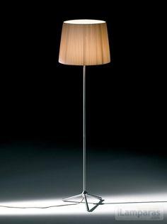 royal f lampara de pie pantalla beige cable marron (ROY00020000) - DAB / iLamparas.com