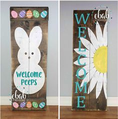 What better way to decorate your porch than with this distressed REVERSIBLE sign! Turn the sign around for whatever season you choose!  ---------- Details: ----------  ~Approximate size: 32 x 11 ~5 designs to choose from ~Please note the wood may not be the exact stain color as the