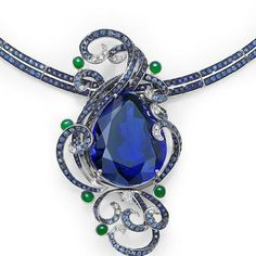 a 103ct #tanzanite , #sapphire, #jade #diamond #necklace / #brooch have taken me 8 month to create. It was a #fab present to a #mother from her lovely son! #love, #mother, @mr_feiliu @feiliufinejewellery @frankbeverett @thejewelleryed @katerina_perez