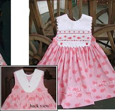 Pinafore Dress - Free Pattern.........plates                                                                                                                                                                                 More