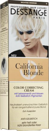 Die Dessange Kur California Blonde CC Cream bewahrt die Reinheit Ihres Blondtons – für ein pures Blond wie frisch aus dem Salon. Die Formel ist angereicher...