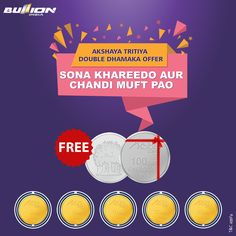BullionIndia Akshaya Tritiya Offer: Buy Gold Coins And Get Silver Coins Of Same Weight Free*
