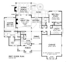Check out the first floor plan from The Wallace, house plan 1446.