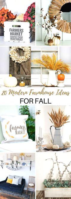DIY home decor projects : 20 Must Make Modern Farmhouse Ideas for Fall! Farmhouse Style Decorating, Farmhouse Ideas, Porch Decorating, Modern Farmhouse, Farmhouse Decor, Decorating Ideas, Fall Home Decor, Autumn Home, Diy Home Decor