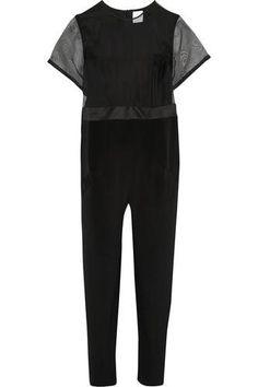 Tide silk-organza and silk-crepe jumpsuit #jumpsuit #covetme #karlaspetic
