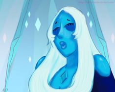 Just a really quick SCREENSHOT REDRAW  Really love Blue  Watch more AU in my gallery! Steven Universe Au, Love Blue, Gems, Deviantart, Future, Crystals, Watch, Diamond, Gallery