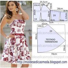 molde de vestido tropical