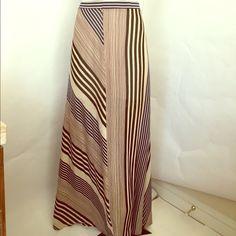 Rodarte striped maxi skirt / LARGE Tag was removed / pockets / super soft / size large / striped Rodarte Skirts Maxi