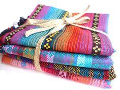 Peruvian Andean Aguayo Fabric Textile sample pack!