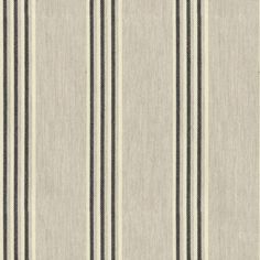 Henley Stripe Putty/Black Fabric by Ian Mankin Curtain Box, Curtain Fabric, Striped Curtains, Striped Fabrics, Box Cushion, Cushion Fabric, Caravan Curtains, Made To Measure Curtains, Buy Fabric