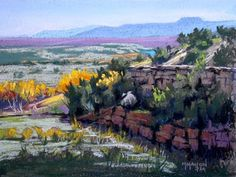 """""""Abiquiu Vista,"""" by Mike Mahon, pastel, 12 x 16 in. Best Pastel or Watercolor.  PleinAir Magazine - Winners In An Enchanted Land"""