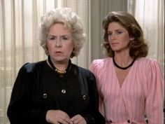 Remington Steele. Doris Roberts and Stephanie Zimbalist.