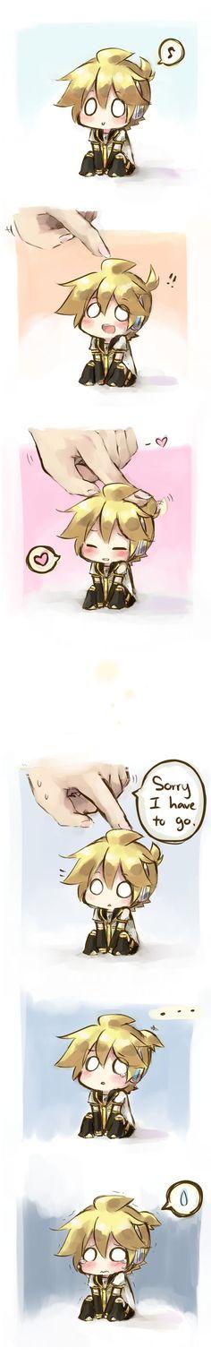 ♥Chibi Len♥ Awwww He's very Kawaii >//w//< -Vocaloid♫♪