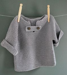 Discover thousands of images about Resultado de imagem para tricot knit baby Baby Knitting Patterns, Knitting For Kids, Crochet For Kids, Baby Patterns, Free Knitting, Crochet Baby, Knit Crochet, Crochet Pattern, Baby Cardigan