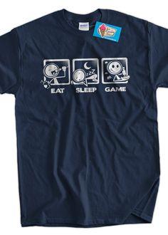 Video Game TShirt Gaming V4 TShirt Eat Sleep Game by IceCreamTees, $14.99