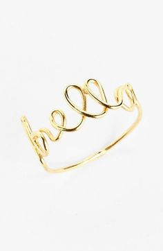 #Nordstrom                #ring                     #South #'Bella' #Wire #Word #Ring #(Juniors) #Nordstrom                       South Sun 'Bella' Wire Word Ring (Juniors) | Nordstrom                                                  http://www.seapai.com/product.aspx?PID=188640