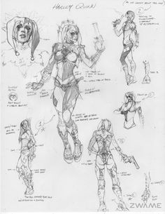Toyriffic: Harley Qwednesday :: Arkham City Harley Quinn Concept Art