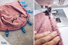 Badeponcho nähen fürs Baby / Kind - Anleitung mit Kapuze - Talu.de Baby Winter, Baby Kind, Baby Hacks, Dory, Hobbies, Fashion, Fabrics, Dressmaking, Sew Simple