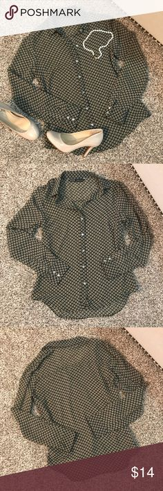 Zara Moroccan Button Down Top Made in Morocco. Never worn. Excellent condition. Sheer material Zara Tops Button Down Shirts