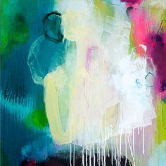 Ursprüngliche abstrakte Malerei moderne Kunst von ARTbyKirsten