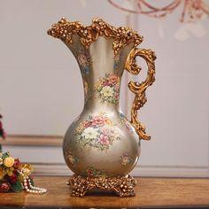 Continental retro  Home Furnishing living room floor luxury villa decoration decoration vase