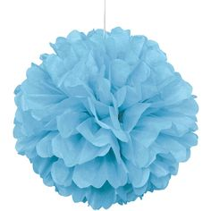 "Light Blue Tissue Paper Pom Pom, 16"" featuring and polyvore,"