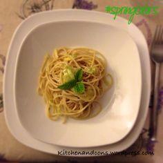 Spaghetti integrali con porro e limone