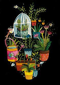 Juxtapoz Magazine - Things that Fit inside a Heart Head And Heart, Heart Art, Illustrations Posters, Anatomical Heart, Cactus, Photo Art, Folk Art, Art Photography, Illustration Art