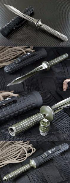 Microtech Jagdkommado Knife Custom Blade, Titanium