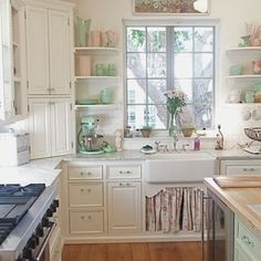 Shabby Chic Kitchen Design, Pictures, Remodel, Decor and Ideas