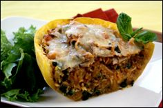 Twice-Baked Spaghetti Squash - 7 Points Plus (Weight Watchers)